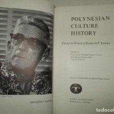 Libros de segunda mano: POLYNESIAN CULTURE HISTORY. ESSAYS IN HONOR OF KENNETH P. EMORY.. Lote 195280953