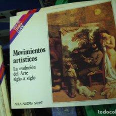 Libros de segunda mano: MOVIMIENTOS ARTÍSTICOS, JOSÉ RAMÓN PANIAGUA SOTO. L.3858-422. Lote 195281292