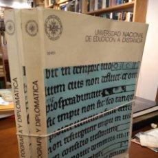 Libros de segunda mano: PALEOGRAFÍA Y DIPLOMÁTICA.. Lote 195320723