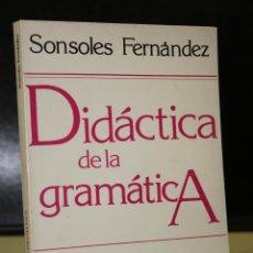 Libros de segunda mano: DIDÁCTICA DE LA GRAMÁTICA. TEORÍAS LINGÜÍSTICAS-SISTEMA DE LA LENGUA.. Lote 195324845