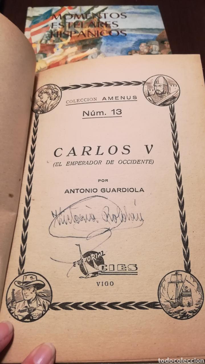 Libros de segunda mano: Carlos V. Num. 13 de la Colección Amenus. Años 50. - Foto 2 - 195332180