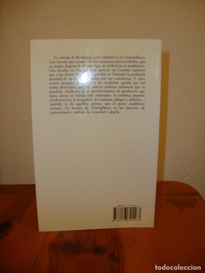 Libros de segunda mano: SU MIRADA Y LA DE BAUDELAIRE - CHAMPFLEURY - LA BALSA DE LA MEDUSA, VISOR, MUY BUEN ESTADO - Foto 3 - 195336205