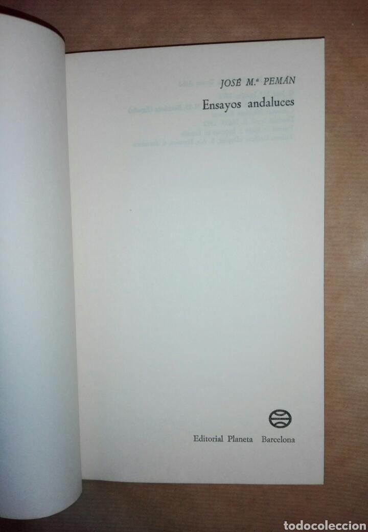 Libros de segunda mano: ENSAYOS ANDALUCES...1972 - Foto 2 - 195337966