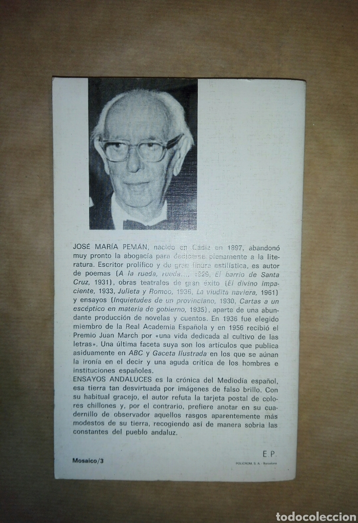 Libros de segunda mano: ENSAYOS ANDALUCES...1972 - Foto 6 - 195337966