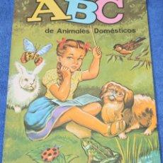 Libros de segunda mano: ABC DE ANIMALES DOMÉSTICOS - EDICIONES BOGA (1970) ¡IMPECABLE!. Lote 195340400