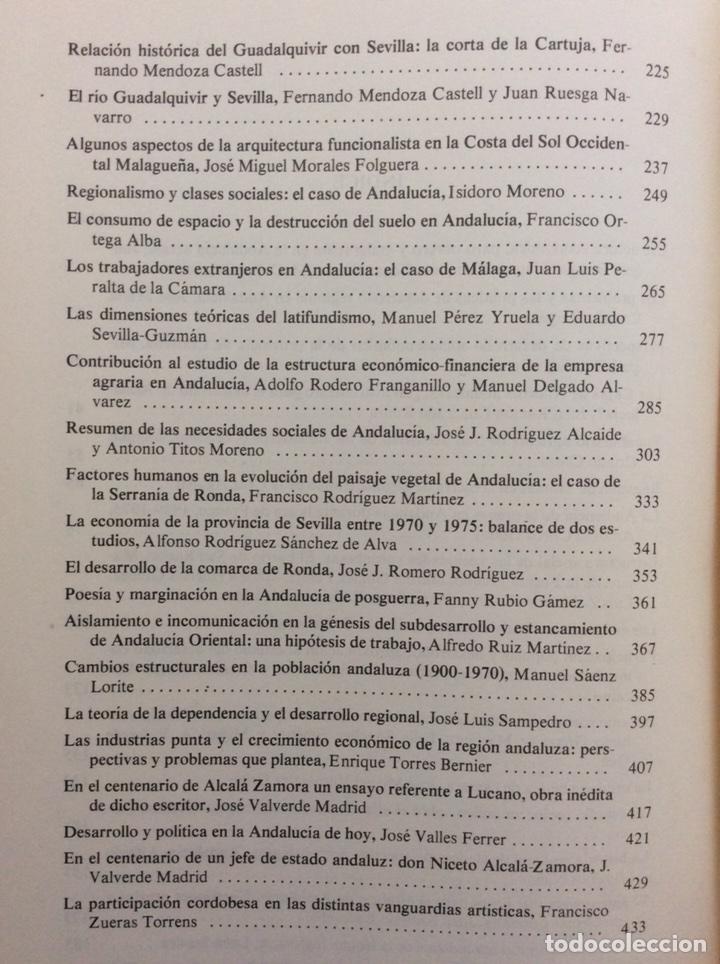 Libros de segunda mano: ANDALUCÍA HOY. ACTAS I CONGRESO HISTORIA ANDALUCÍA. DICIEMBRE 1976. CÓRDOBA - Foto 3 - 195340573