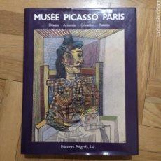 Libros de segunda mano: MUSÉE PICASSO PARÍS. DIBUJOS ACUARELAS GOUACHES PASTELES. Lote 195343228