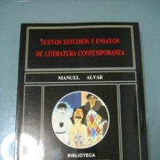 Libros de segunda mano: NUEVOS ESTUDIOS Y ENSAYOS DE LITERATURA CONTEMPORANEA - MANUEL ALVAR. Lote 195344298