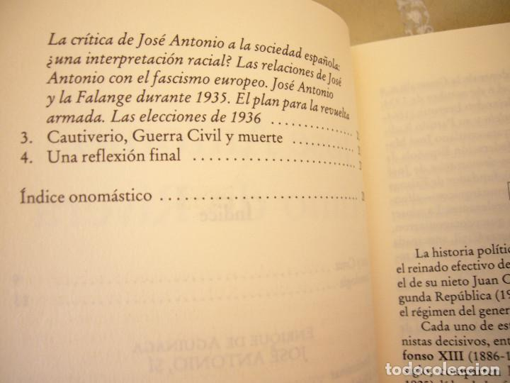 Libros de segunda mano: ENRIQUE DE AGUINAGA & STANLEY G. PAYNE: JOSÉ ANTONIO PRIMO DE RIVERA (EDICIONES B, 2003) MUY RARO - Foto 6 - 195377347