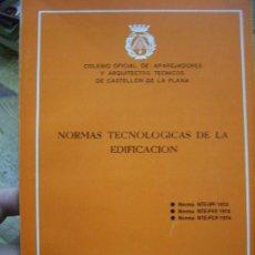 Libros de segunda mano: NORMAS TECNOLÓGICAS DE LA EDIFICACIÓN 1974. L.36-11. Lote 195381906