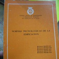 Libros de segunda mano: NORMAS TECNOLÓGICAS DE LA EDIFICACIÓN. 1974. L.36-13. Lote 195382292