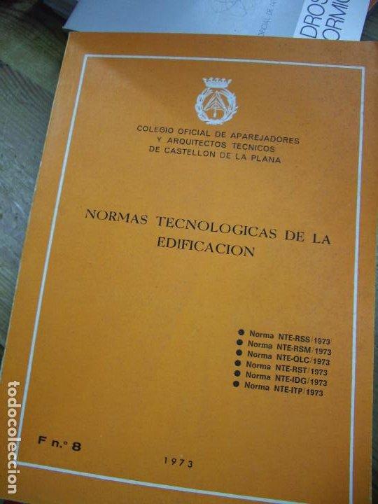NORMAS TECNOLÓGICAS DE LA EDIFICACIÓN 1973. L.36-16 (Libros de Segunda Mano - Ciencias, Manuales y Oficios - Otros)