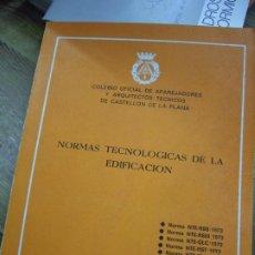 Libros de segunda mano: NORMAS TECNOLÓGICAS DE LA EDIFICACIÓN 1973. L.36-16. Lote 195382800