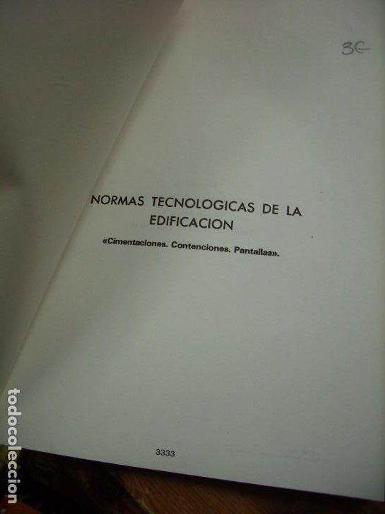Libros de segunda mano: Normas tecnológicas de la edificación 1983. L.36-17 - Foto 2 - 195382915