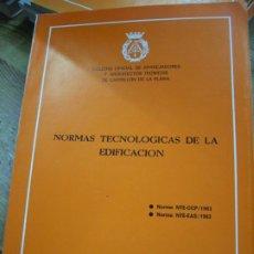 Libros de segunda mano: NORMAS TECNOLÓGICAS DE LA EDIFICACIÓN 1983. L.36-17. Lote 195382915