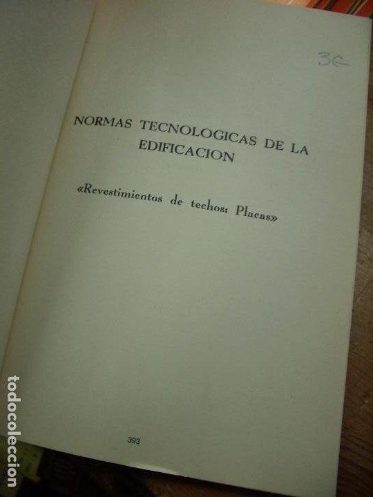 Libros de segunda mano: Normas tecnológicas de la edificación 1973. L.36-18 - Foto 2 - 195383076