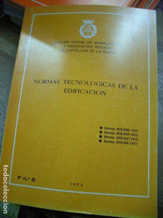 NORMAS TECNOLÓGICAS DE LA EDIFICACIÓN 1973. L.36-18 (Libros de Segunda Mano - Ciencias, Manuales y Oficios - Otros)