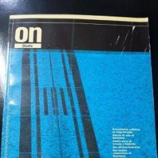 Libros de segunda mano: REVISTA ON 113 ARQUITECTURA ARTE CONSTRUCCIÓN TECNOLOGÍA AMBIENTAL TENDENCIAS. Lote 195383816