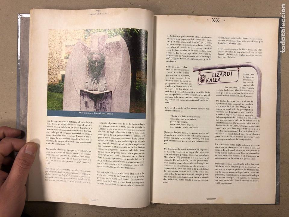Libros de segunda mano: LITERATURA VASCA SIGLO XX. COLECCIONABLE DEL DIARIO DEIA ENCUADERNADO EN TAPA DURA. JON KORTAZAR - Foto 5 - 195384147