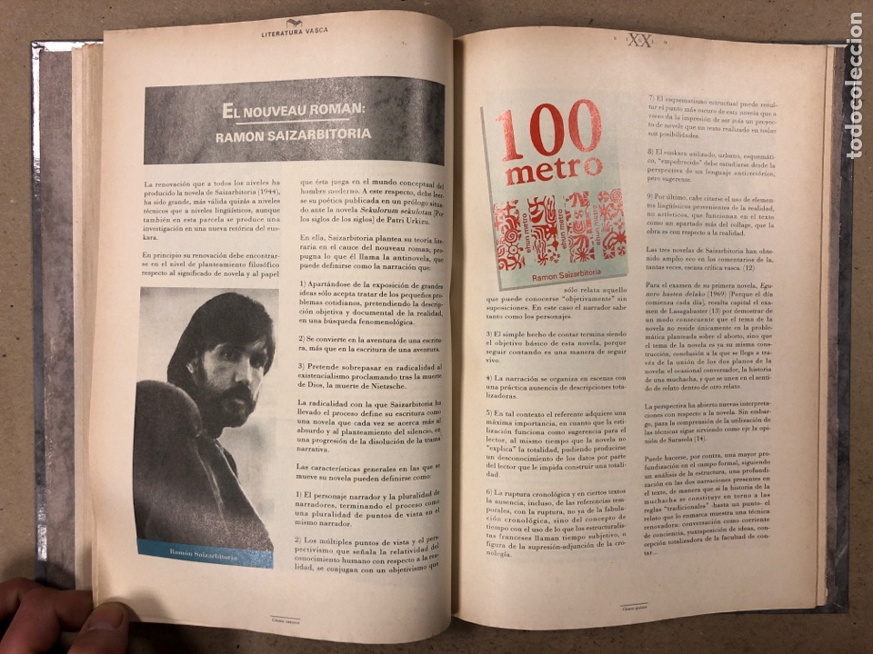 Libros de segunda mano: LITERATURA VASCA SIGLO XX. COLECCIONABLE DEL DIARIO DEIA ENCUADERNADO EN TAPA DURA. JON KORTAZAR - Foto 6 - 195384147