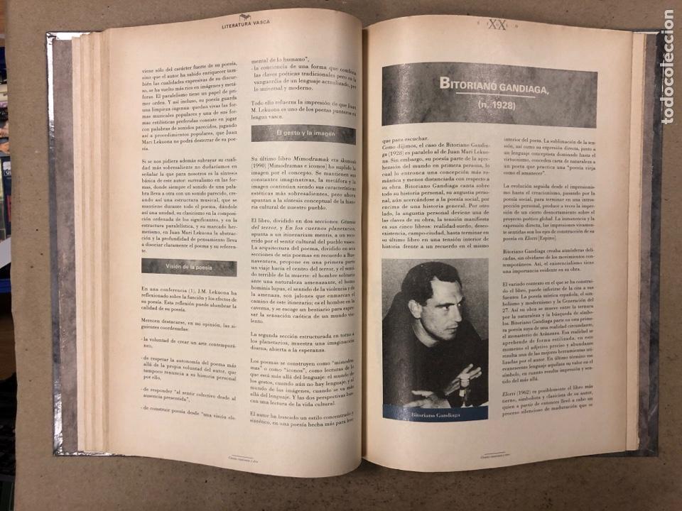 Libros de segunda mano: LITERATURA VASCA SIGLO XX. COLECCIONABLE DEL DIARIO DEIA ENCUADERNADO EN TAPA DURA. JON KORTAZAR - Foto 7 - 195384147