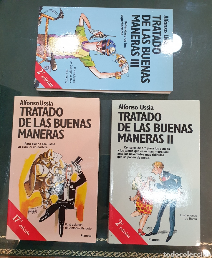 TRILOGÍA TRATADO DE LAS BUENAS MANERAS. USSÍA FIRMADOS (Libros de Segunda Mano (posteriores a 1936) - Literatura - Otros)