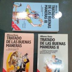 Libros de segunda mano: TRILOGÍA TRATADO DE LAS BUENAS MANERAS. USSÍA FIRMADOS. Lote 195384733