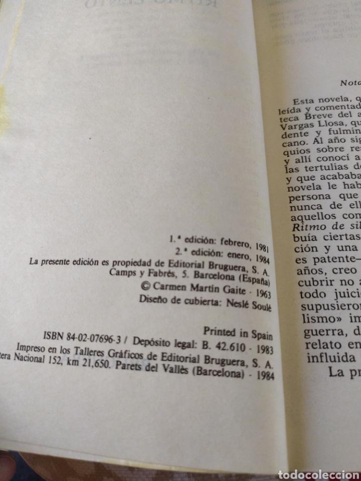 Libros de segunda mano: Ritmo lento - Foto 3 - 195385455