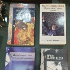 Libros de segunda mano: 4 LIBROS FIRMADOS VARGAS LLOSA. DEDICADOS POR EL AUTOR. Lote 195387566
