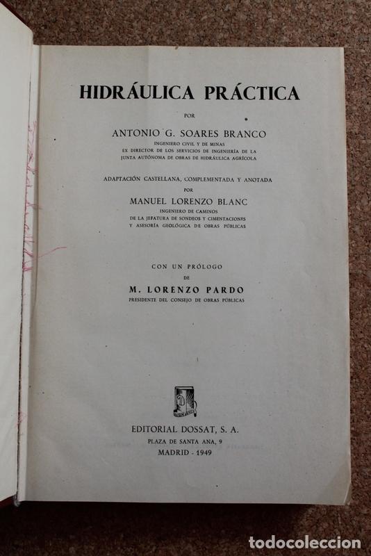 HIDRÁULICA PRÁCTICA. ADAPTACIÓN CASTELLANA, COMPLEMENTADA Y ANOTADA POR MANUEL LORENZO BLANC. (Libros de Segunda Mano - Ciencias, Manuales y Oficios - Otros)
