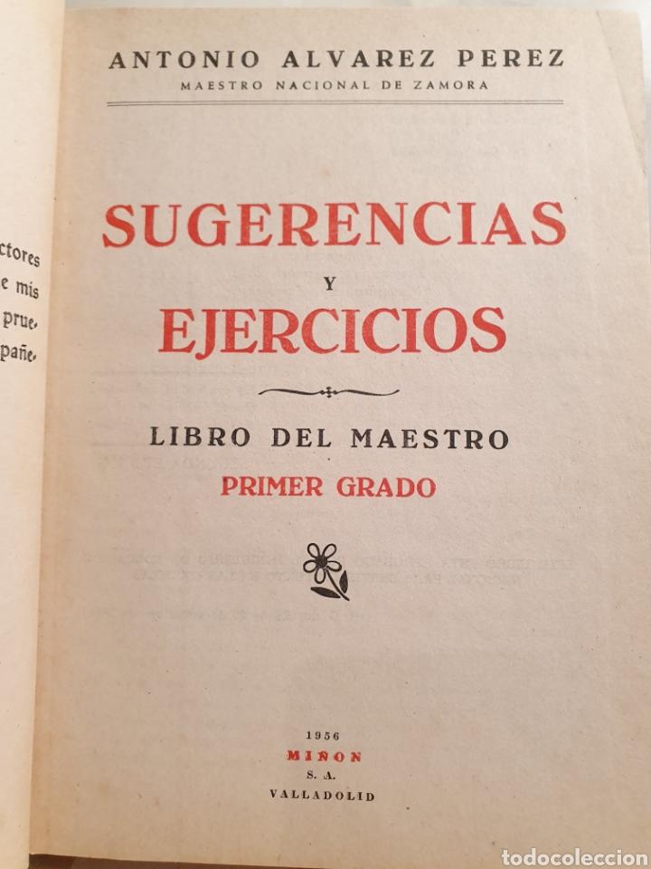 Libros de segunda mano: ÁLVAREZ. SUGERENCIAS Y EJERCICIOS. LIBRO DEL MAESTRO. 1963. PRIMER GRADO. - Foto 2 - 195391608