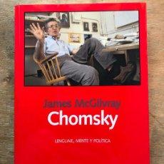 Libros de segunda mano: CHOMSKY. LENGUAJE, MENTE Y POLÍTICA. JAMES MCGILVRAY. . Lote 195391757