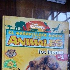 Libros de segunda mano: EL MARAVILLOSO MUNDO DE LOS ANIMALES, LOS LEONES, Nº 1, DISNEY, PLANETA AGOSTINI. Lote 195403431