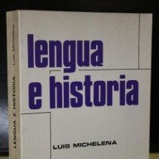 Libros de segunda mano: LENGUA E HISTORIA.. Lote 195416672