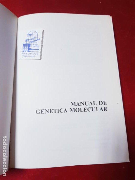 Libros de segunda mano: libro-manual de genética molecular 3-ciencias de la vida-1990-editora síntesis-Javier león serrano++ - Foto 6 - 195417190