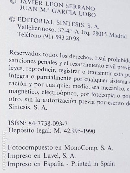Libros de segunda mano: libro-manual de genética molecular 3-ciencias de la vida-1990-editora síntesis-Javier león serrano++ - Foto 8 - 195417190
