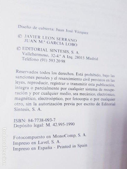 Libros de segunda mano: libro-manual de genética molecular 3-ciencias de la vida-1990-editora síntesis-Javier león serrano++ - Foto 9 - 195417190