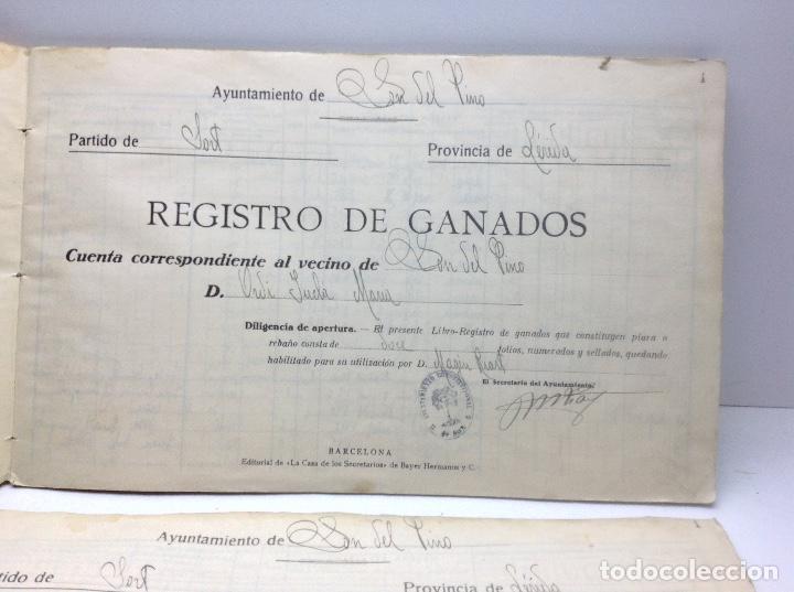 Libros de segunda mano: LIBRO DE REGISTRO DE GANADO - AYUNTAMIENTO DE SON DEL PINO - SON -VALENCIA DE ANEU - LERIDA - Foto 4 - 195424496