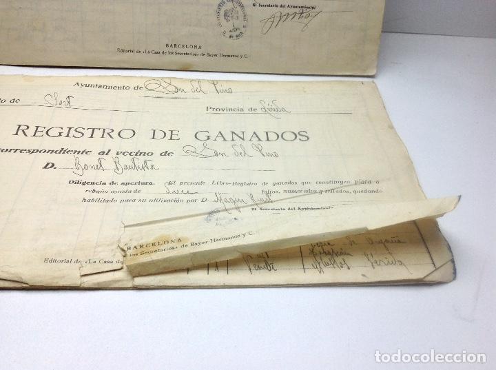 Libros de segunda mano: LIBRO DE REGISTRO DE GANADO - AYUNTAMIENTO DE SON DEL PINO - SON -VALENCIA DE ANEU - LERIDA - Foto 5 - 195424496