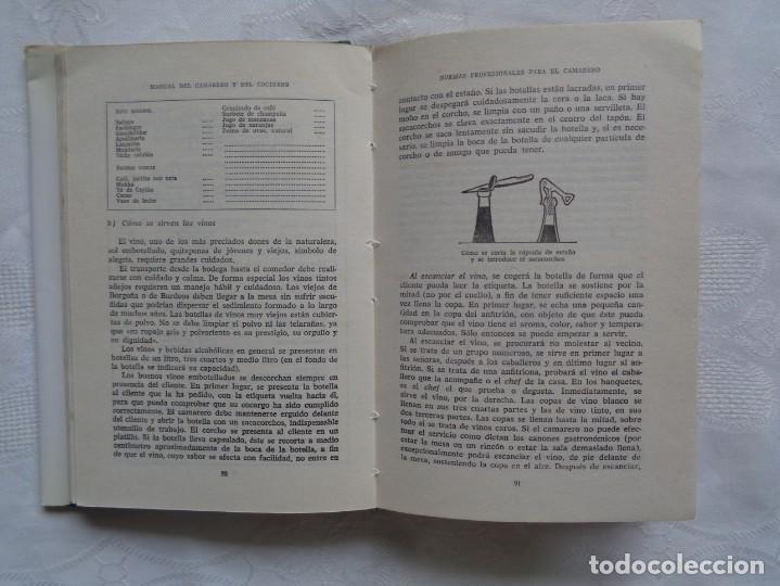 Libros de segunda mano: MAXIMILIAN WEBER Y ANNA C. HUBER. MANUAL DEL CAMARERO Y DEL COCINERO. 1964. 1ª EDICIÓN. - Foto 3 - 195435983