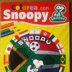 Libros de segunda mano: COLOREA CON SNOOPY (TODOLIBRO, 2009). SIN USAR. CON DIBUJOS DE SCHULZ.. Lote 195447400