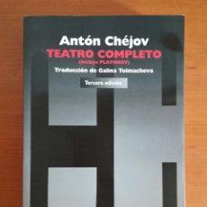 Libros de segunda mano: ANTÓN CHÉJOV TEATRO COMPLETO INCLUYE PLATONOV. Lote 195450306