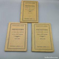 Livres d'occasion: COLECCIÓN LABOR PREHISTORIA COLECCIÓN COMPLETA DE 3 TOMOS EDAD DE PIEDRA, BRONCE Y HIERRO. Lote 195461197