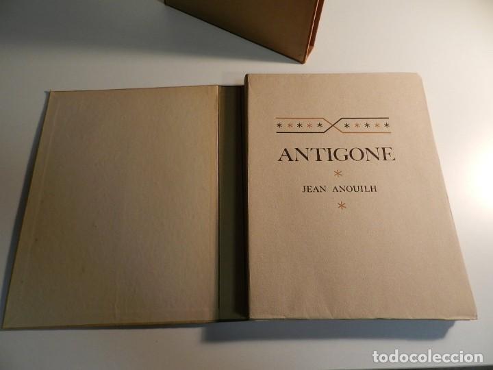 Libros de segunda mano: ANTÍGONA ANOUILH ANTIGONE - ACUARELAS JANE PECHEUR - ED LIMITADA A 190 - NUMERADO - Foto 4 - 195463915