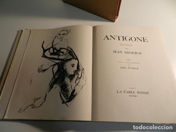 Libros de segunda mano: ANTÍGONA ANOUILH ANTIGONE - ACUARELAS JANE PECHEUR - ED LIMITADA A 190 - NUMERADO - Foto 6 - 195463915