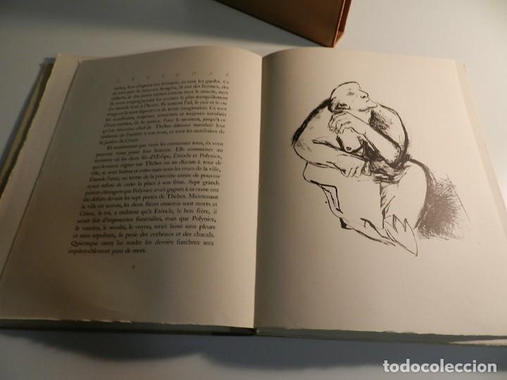 Libros de segunda mano: ANTÍGONA ANOUILH ANTIGONE - ACUARELAS JANE PECHEUR - ED LIMITADA A 190 - NUMERADO - Foto 8 - 195463915