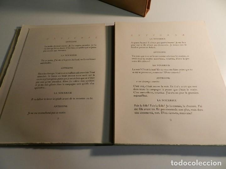 Libros de segunda mano: ANTÍGONA ANOUILH ANTIGONE - ACUARELAS JANE PECHEUR - ED LIMITADA A 190 - NUMERADO - Foto 9 - 195463915