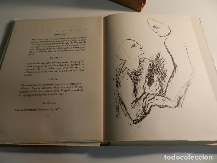 Libros de segunda mano: ANTÍGONA ANOUILH ANTIGONE - ACUARELAS JANE PECHEUR - ED LIMITADA A 190 - NUMERADO - Foto 10 - 195463915