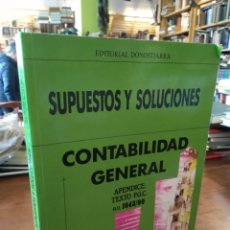 Libros de segunda mano: SUPUESTOS Y SOLUCIONES. CONTABILIDAD GENERAL. VALLE MUÑOZ. MARTÍN BUENO. Lote 195466993