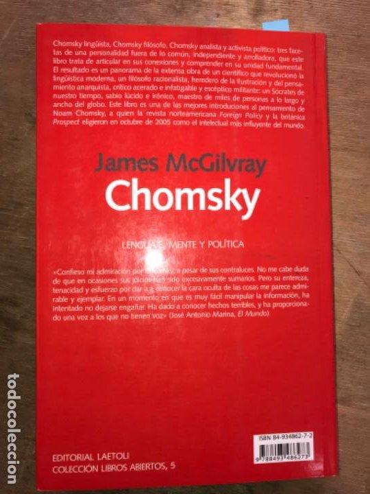 Libros de segunda mano: CHOMSKY. LENGUAJE, MENTE Y POLÍTICA. JAMES McGILVRAY. - Foto 6 - 195391757
